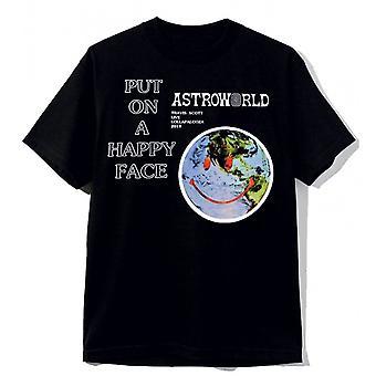 Astroworld Black Tee Shirt Put On Happy A Face Travis Scott