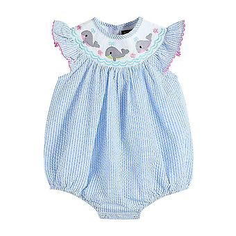Baby & Toddler Smocked Flutter Sleeve