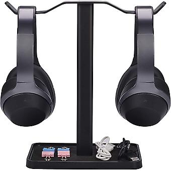 [Super Stable]  Dual Headphones Stand for Desk, Gaming Headsets Holder Hanger
