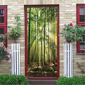 Natural Scenery Door Wallpaper ( Set 4)
