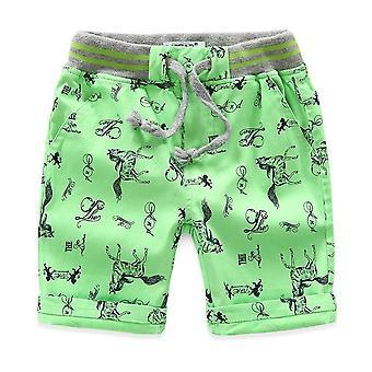 Cartoon Printed Horse Summer Breathable Linen 100% Bumbac Pantaloni scurți