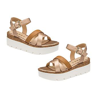 Ravel Monto Flatform Sandals  - Rose Gold and Tan