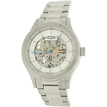 Rotary Gents Automatic Skeleton Dial All Stainless Steel Watch GB00157/06