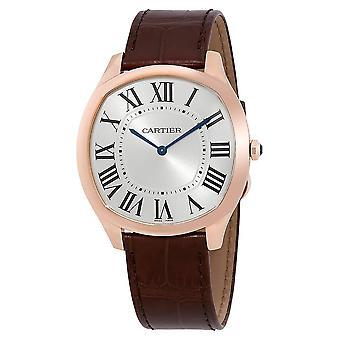 Cartier Drive de Cartier 18kt Rose Gold Extra-Flat Men's Hand Wound Watch WGNM0006