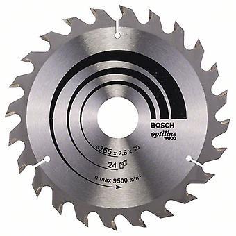 Bosch 2608640602 165 X 2.6 X 30/24 Opti-Wood circulaire zag Blade Hand