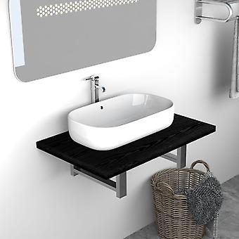 vidaXL Bathroom Furniture Black 60×40×16.3 cm