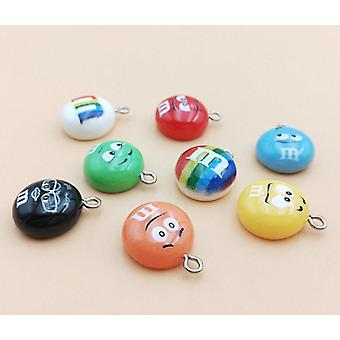 Chocolate Beans Resin Charms
