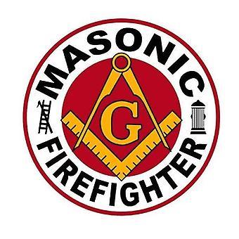 Masonic firefighter decal car sticker