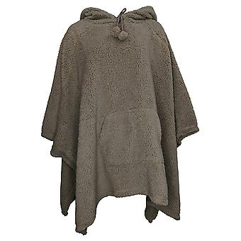 Koolaburra By UGG Women's Cozy Brushed Back Sherpa Poncho Gray A388384