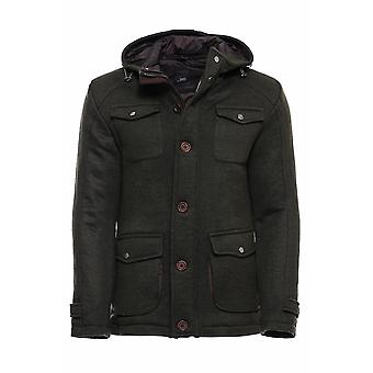 Hooded green coat | wessi