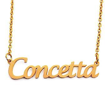 KL Concetta Custom Nimi 18 karat Kullattu kaulakoru Säädettävä ketju 16 19 cm.