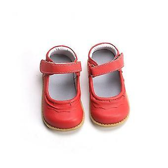 子供のための本物の革黒と異なる色の靴