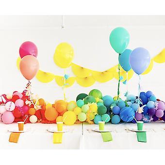 "oh happy day regnbue ballong bunt 11"""