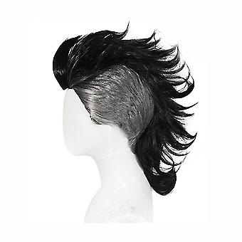 Mohican Účes Parochne Anime Syntetické vlasy parochňa Čierna