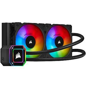 コルセアハイドロシリーズ iCUE H100i エリートカペレックス RGBパフォーマンス液体CPUクーラー - 240mm (CW-9060046