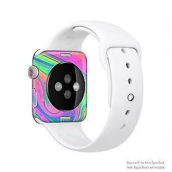 O kit de pele de corpo inteiro de Fushion V3 de cor neon para o Apple Watch