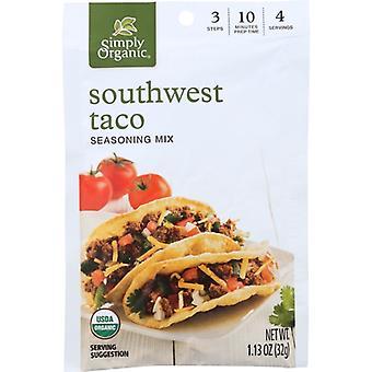 Simply Organic Mix Taco Sthwst Org, Case of 12 X 1.13 Oz