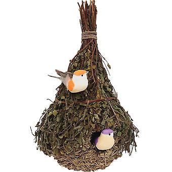 Kleine vogel nest stro papegaai nest vogel kooi fokken nest vogel huis opknoping