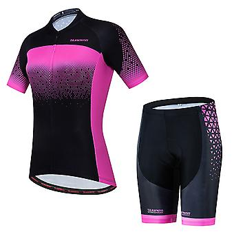 Woman Cycling Jersey Short Sleeves Pro Team Bicycle Clothing