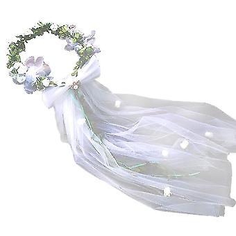 Bryllup Hodeplagg Brude Garland Slør Hodestykke