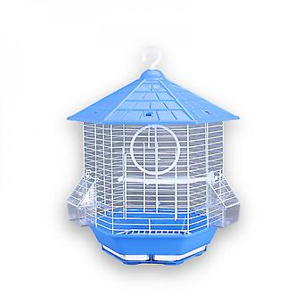 Metal Cage Hexagonal Pavilion Bird Cage Yellow Finch Parrot Bird Cage