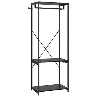 vidaXL garderobe svart 60x40x167 cm metall og sponplater