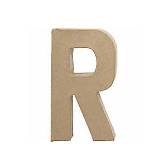 20,5 cm:n suuri paperi mache-kirjain R | Papier Mache muodot