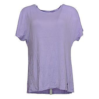 Cuddl Duds Women's Top Reg Smooth Jersey Short Sleeve Tee Purple A392459