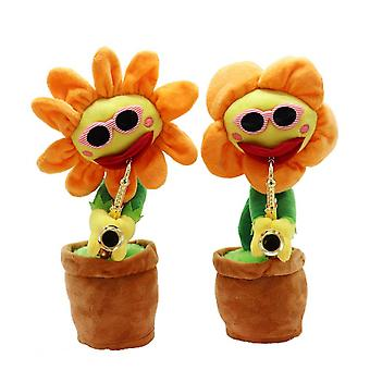 Caraele Sunflower-shaped Electric Plush Toy Saxophone Gift For Children