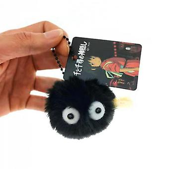 Fluffy Small Briquettes Movie Keyring Soft Toy
