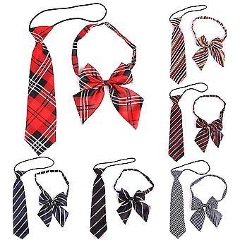 Gummi String Krawatte Polyester karierten Hals Krawatte für Anzüge dünne schlanke Männer