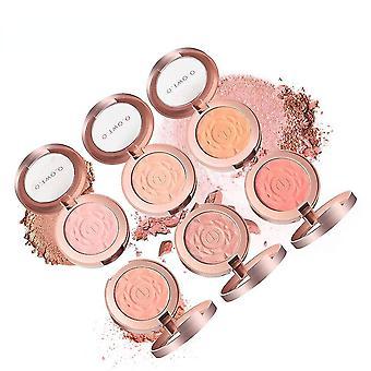 Muzxr-blushes bronceadores faciales colorete paleta de polvo maquillaje mejilla rubor natural minerales prensados paleta de polvo con pincel facial kit cosmético