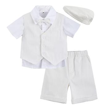 Baby Baptism Suit Formal Toddler Wedding Bow Clothes