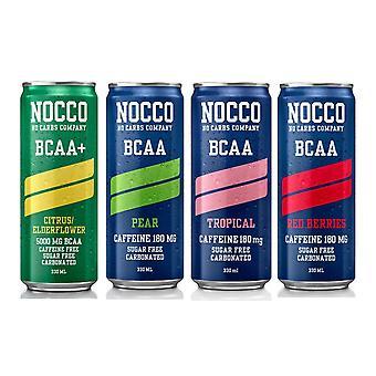 Nocco BCAA+ Cans Energy Drink - Caffeine Free - Amino Acid - Tropical - 330ml