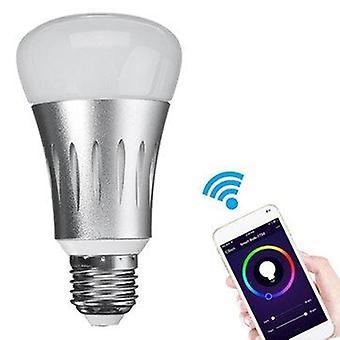 E27 7w rgbw wifi app control led smart light bulb works with alexa ac85-265v
