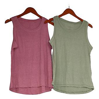 Danskin Women's Medium Tank Top Sleeveless 2-Pack Green