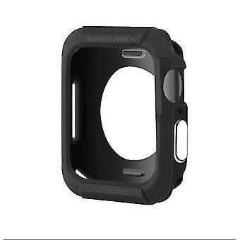 Pda cases silicone full coverage case for apple watch series 5 4 44mm black