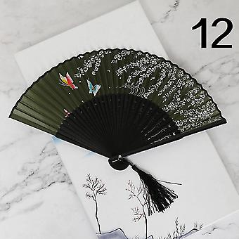Paint And Wind Animation Hand-painted Cat Cartoon Children's Portable Folding Fan
