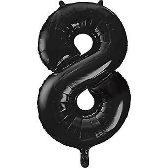 """55868 - 34"""" Giant Black Foil Number 8 Ballon"""