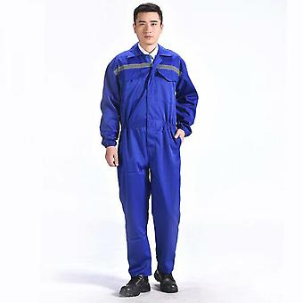 Reflective One-piece Protective Clothing For Men And Women Auto Repair Work (blue Xxxl)