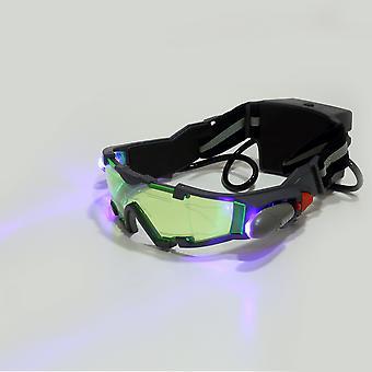 Zielony obiektyw regulowany gumka night vision okulary okulary eyeshield