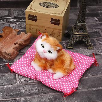 جديد جميل محاكاة الحيوان دمية أفخم القطط النائمة مع لعبة أطفال الصوت