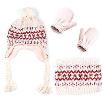 Scarf Hat Gloves Three-piece Suit