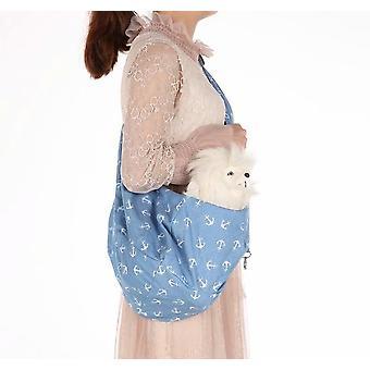 Eine Schulter Faltbare Haustiertasche Diagonal Rücken Haustiertasche Atmungsaktiver Hunderucksack Haustiertasche Tragetasche (Länge 83 * Breite 45, Xbd191)