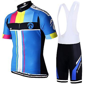 X-tiger Sommer Mænds Cykling Jersey Suit Tredelt Cykling