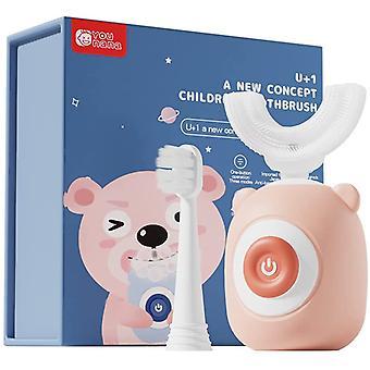 360 Ultralyd Barnas Elektriske Tannbørste, Full Munn Baby Tannbørste, 2-12 År Gammel Rosa