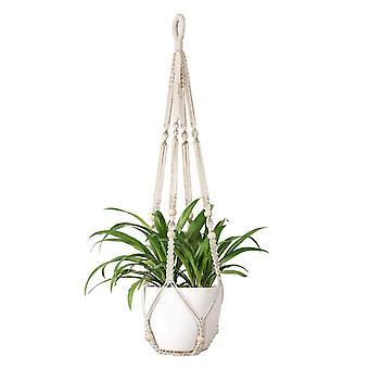Hanging Basket Cotton Rope Plant Hanger Flower Basket Pot Holder