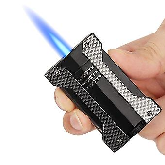 Cigar Torch Lighter With Punch Combo New Luxury Windproof Lighter Jet Torch  Accessories
