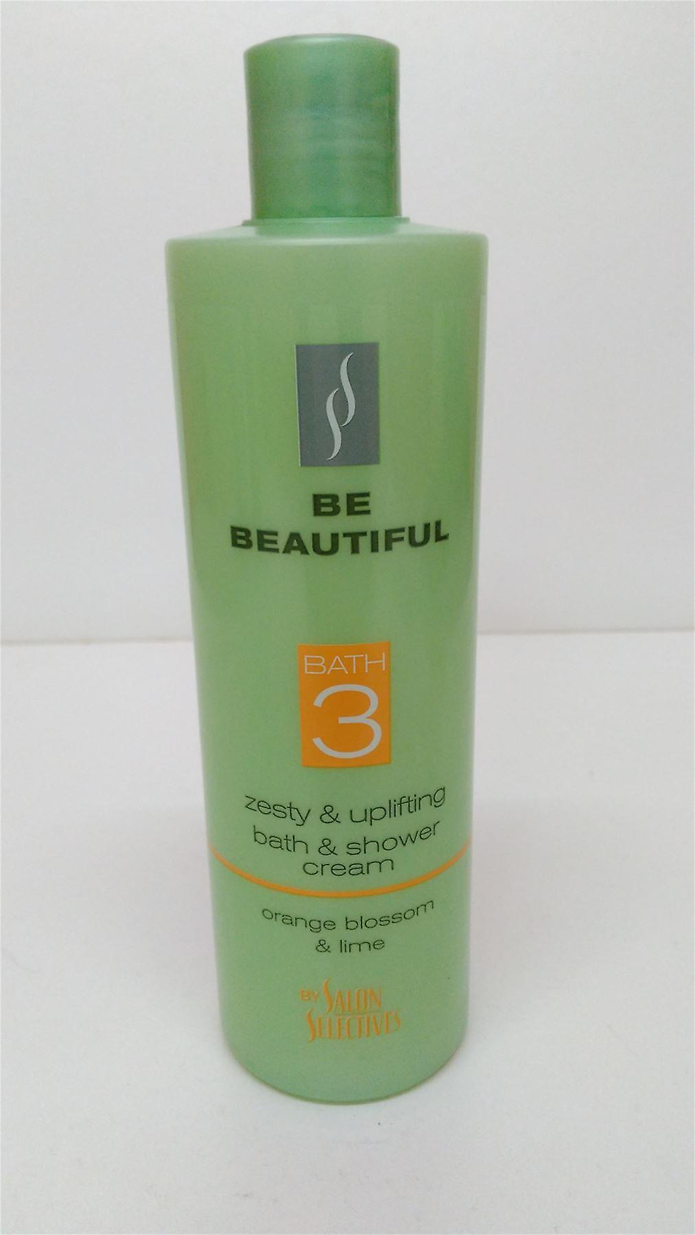 3 x være vakker Salon Selectives bad & dusj krem appelsinblomst & Lime