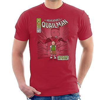 Quailman No More Doug Comic Superhero Men's T-Shirt